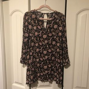 Lush floral long sleeve dress